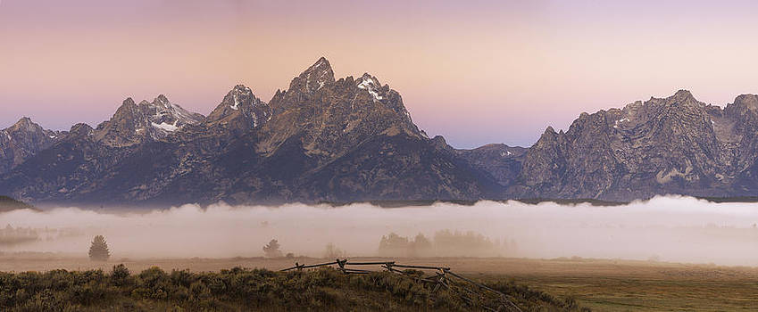 Teton Range Dawn by Joseph Rossbach
