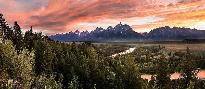 Teton Snake River Sunset by David  Forster