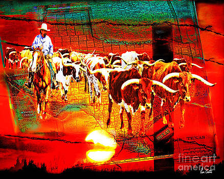 Texas Cattle Drive by Pam Carter