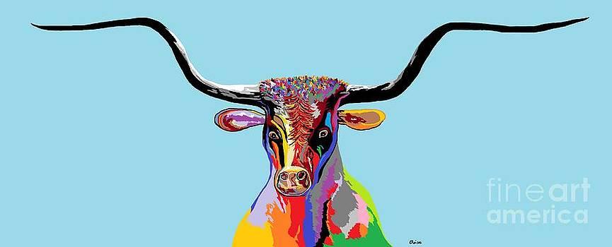 Texas Longhorn by Eloise Schneider
