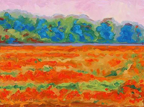 Texas Paintbrush Spring Flowers Oil Painting Bertram Poole by Thomas Bertram POOLE