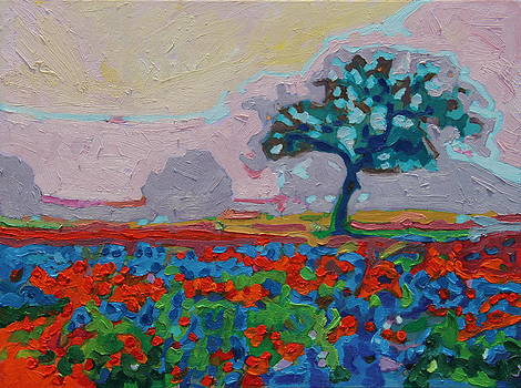 Texas Spring Flowers oil painting Bertram Poole by Thomas Bertram POOLE