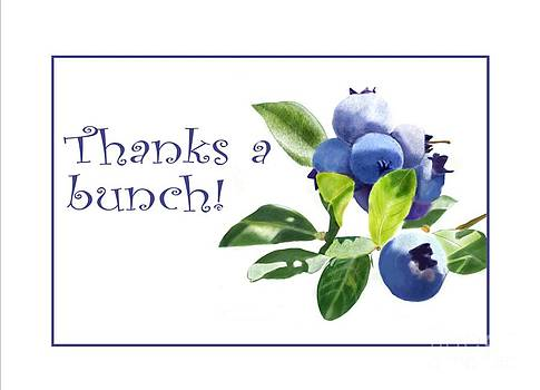 Thanks a Bunch Note Card by Joan A Hamilton