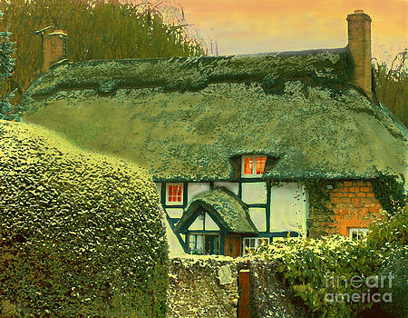 Thatched Cottage at Sunset by Maureen Tillman
