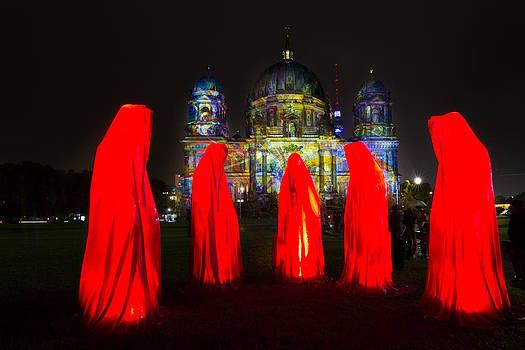 The 5 Red Monks  by Maik Tondeur