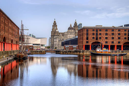 The Albert Dock in Liverpool by Roger Green