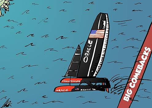 The America's Cup Victory Moment by OptionsClick BlogArt