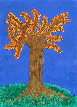 The Autumn Fire A Tree by Nikunj Vasoya