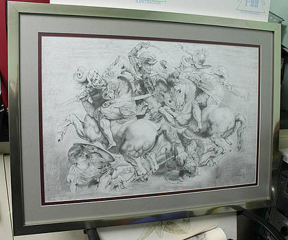 The Battle of Anghiari Framed up by Miguel Rodriguez