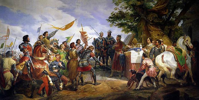 Emile Jean Horace Vernet - The Battle of Bouvines