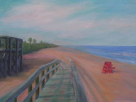 The Beach At Flagler Beach by Patty Weeks