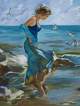 The Beach Girl by Caroline  Stuhr