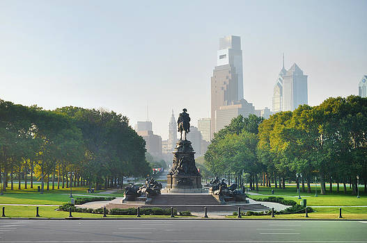 The Benjamin Franklin Parkway - Philadelphia Pennsylvania by Bill Cannon
