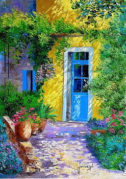 The blue door by Jean-Marc JANIACZYK