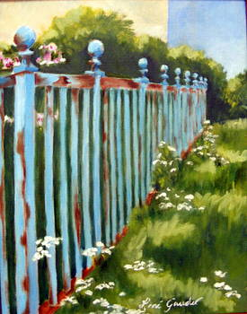 The Blue Fence by Lenore Gaudet