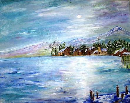 The Blue Lake by Doris Cohen