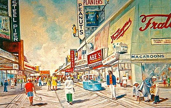 The Boardwalk in AC as it was by Bess Yearsley