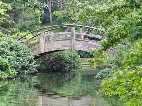 The Bridge At The Japanese Gardens In Fort Worth Texas by Shawn Hughes