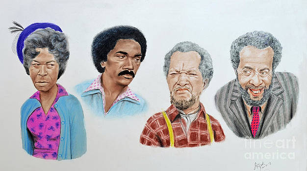 The Cast of Sanford and Son  by Jim Fitzpatrick