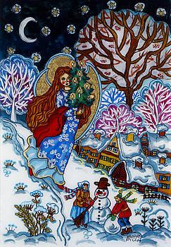The Christmas night by Iwona Fafara-Pilch