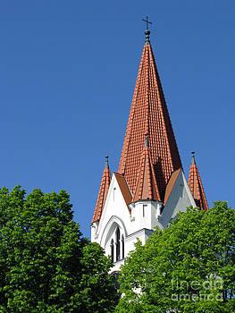 The Chuch Tower- Silute- Lithuania by Ausra Huntington nee Paulauskaite
