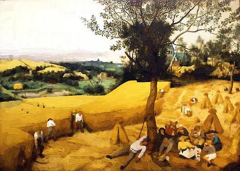 The Corn Harvest Digital Make Over by Robert Rhoads
