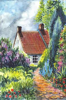 The Cottage Garden Path by Carol Wisniewski