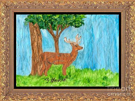 The Deer  Looks On by Sylvia Howarth