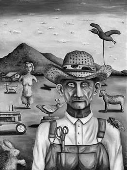 Leah Saulnier The Painting Maniac - The Eccentric Farmer bw