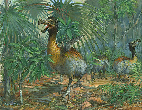 The Extinct Dodo Bird by ACE Coinage painting by Michael Rothman