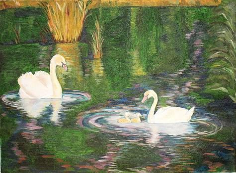 The family of Swans by Prasida Yerra