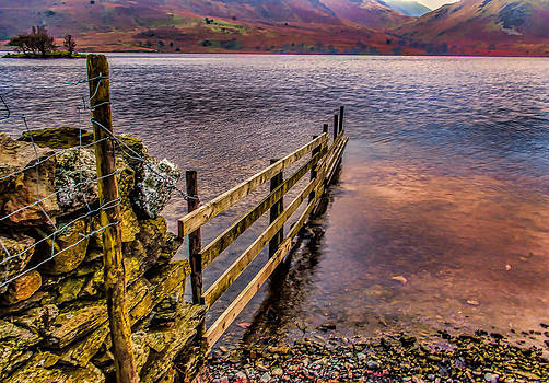 The Fence Buttermere Lake District by Trevor Kersley
