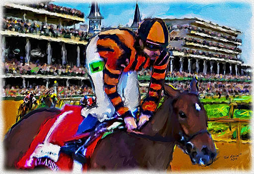 The Finish line At Churchill Downs by Ted Azriel