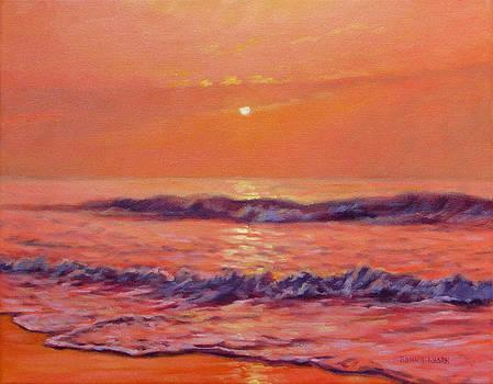 The First Day-Sunrise on the Beach by Bonnie Mason