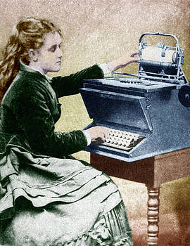 The First Typist, 1872 by Science Source