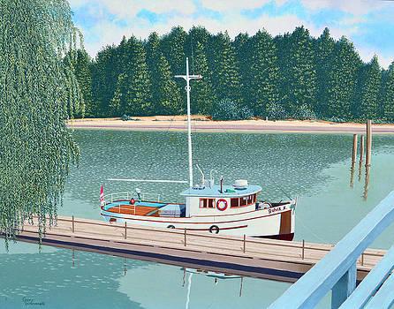 The converted fishing trawler Gulvik by Gary Giacomelli
