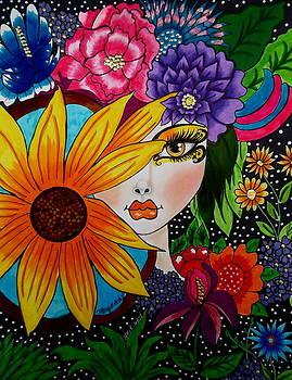The Flower Girl by Maria  RUIZ