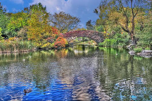 The Gapstow Bridge at the Pond in Central Park Manhattan 2 by Randy Aveille
