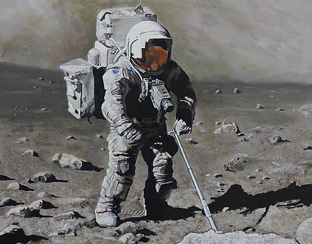 The Geologist- Harrison Schmitt. Apollo 17 by Simon Kregar