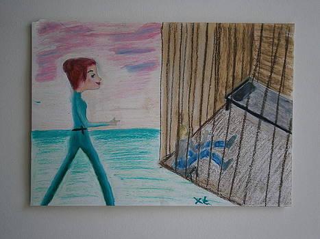 The Girl and the Stalker by Tania  Katzouraki