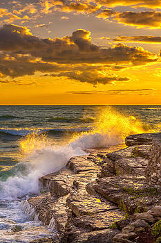 The Golden Hour on Lake Ontario by Fred J Lord