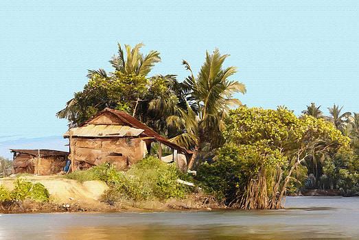 Dominique Amendola - The grass hut on the river