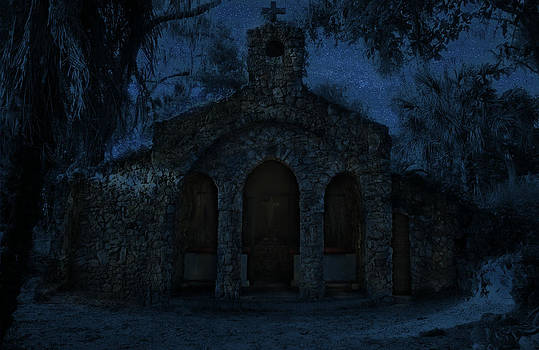 The Grotto by Moonlight by Phil Penne
