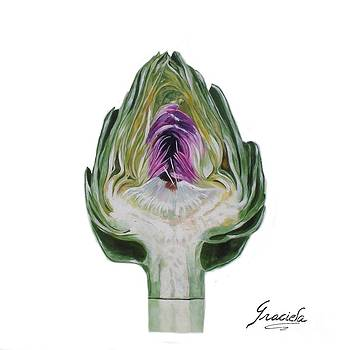 The heart of an artichoke by Graciela Castro