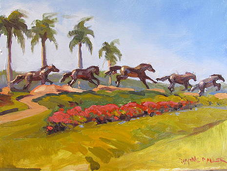 The Horses at Lely by Dianne Panarelli Miller