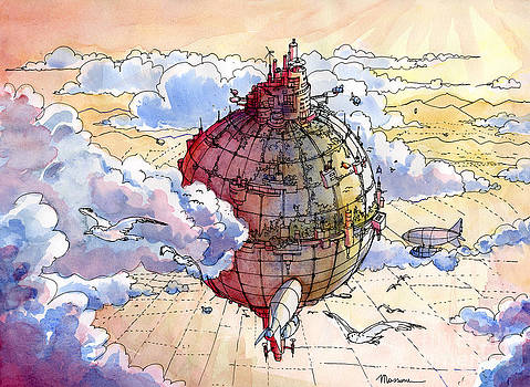The hot air balloon city by Luca Massone