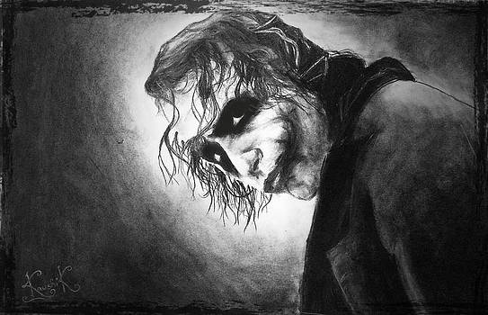 The Joker Made Out Of a Charcoal Block  by Kaushik Varma