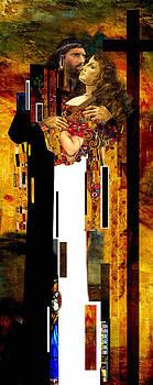 The Kiss     Christ And Maria Magdalena by Karine Percheron-Daniels