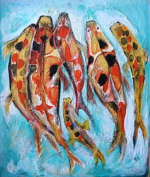 The Koi Family by Pius Kendakur