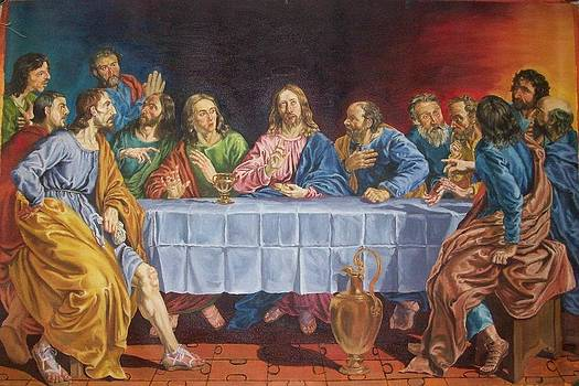 The Last Supper copied from Lois de Silvestre by Regie Alquizalas